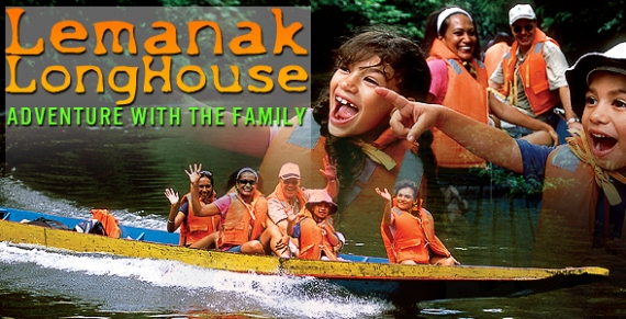 Take long boat to Lemanak Longhouse