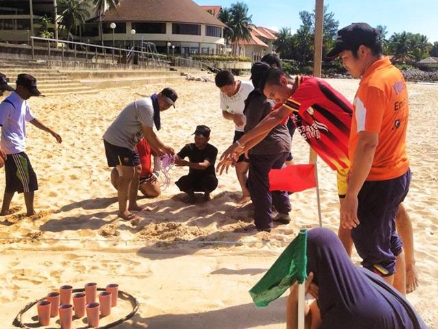 Team play at Permai Rainforest Resort