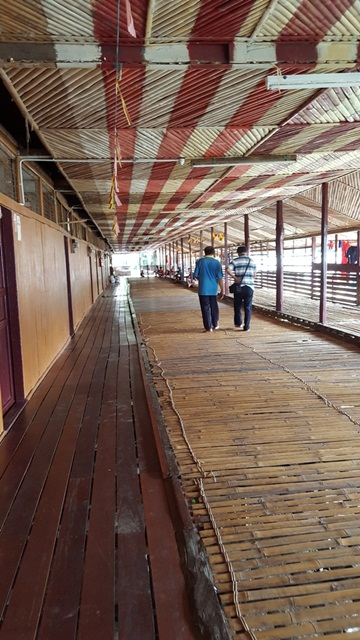 Long corridor of Mongkos Longhouse