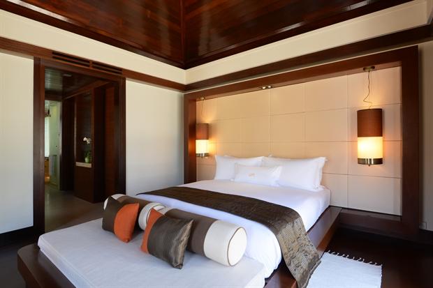 Interior of the room at Gaya Island Resort