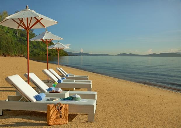 Lounge Chair by the beach at Gaya Island